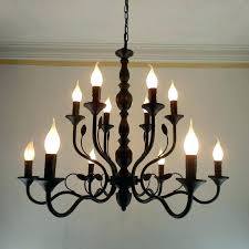 outdoor candle chandelier chandeliers wrought iron luxury rustic black vintage antique home