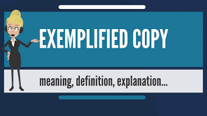 What Is Exemplified Copy What Does Exemplified Copy Mean