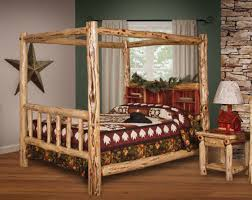 Unique canopy bed Black And Gold Rustic Furniture Barn Cedar Log Bed Awesome Stuff 365 30 Of The Coolest Beds You Can Buy Awesome Stuff 365
