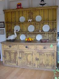 Small Picture Distressed Kitchen Dresser Antique Cupboards and Dressers