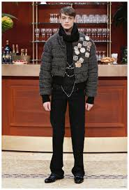 karl lagerfeld reinterprets the quilted er jacket with a chic knit overhaul