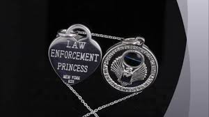 beautiful solid sterling silver police gift jewelry for law enforcement friend