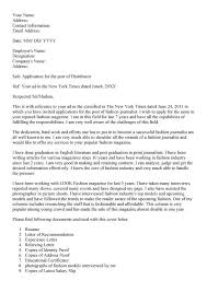 Cover Letter Examples For Essay Beautiful Journalist Cover Letter
