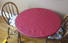 Table Cloth For Round Table Making A Mess Proof Fitted Tablecloth Jen Spends Less