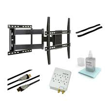 full motion articulating steel wall mount kit for 37 in to 64 in flat
