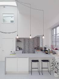 designer kitchen lighting. kitchen refurbishment finished with 3 plumen designer light bulbs lighting