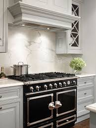 Kitchen Stove Backsplash Idea #3: Granite or Marble