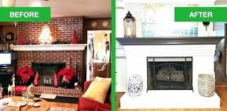 white painted brick fireplace painted brick fireplace before and after white painted brick fireplace painting brick