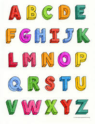 Numbers, alphabet, letters coloring pages. How To Draw 3d Letters Art Projects For Kids