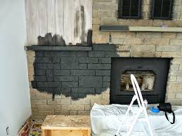 how to paint a stone fireplace by danslelakehouse