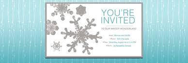 Snowflake Birthday Invitations Winter Wonderland Party Guide Evite