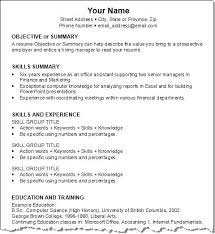 Job Specific Resumes Resume Template For A Job Arcgerontology Info