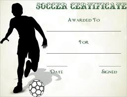 Free Soccer Certificate Templates Soccer Certificates Template Major Magdalene Project Org