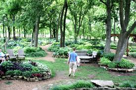the beds are planted and maintained by the greater ozarks hosta society it has been designated a national display garden of the american hosta society