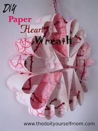 diy paper heart wreath valentine s decoration and preschool craft in one