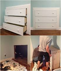 attic bedroom furniture. plain furniture cool 7 wonderful diy builtin dresser projects to totally transform your  room by and attic bedroom furniture