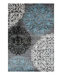 gray scroll circles toscana rug