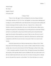 a separate peace essay prompt and rubric  a separate peace essay student1
