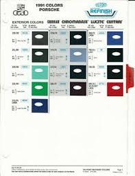 Details About 1991 Porsche 911 928 944 Color Samples Paint Chips Dupont And Ppg