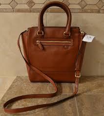coach cross body bag  coach tanner legacy mini tote cognac leather cross  body bag