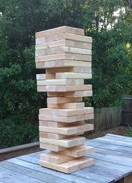 How To Play Tumbling Tower Wooden Block Game Giant Wooden Block Tower Jumbo Toppling Tower Extra Large 98