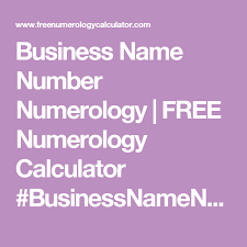 Numerology Chart Name Calculator Business Name Number Numerology Free Numerology Calculator