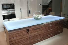 view in gallery elegant modern kitchen island with a durable glass countertop
