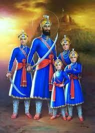 guru gobind singh ji with four sahibzaades more sikh