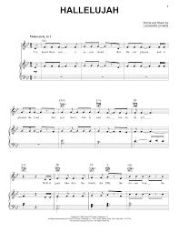 hallelujah piano sheet music hallelujah piano sheet music by pentatonix piano voice guitar rhm