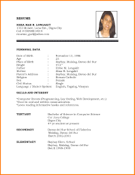 Enchanting Professional Resume Format Pdf For Cv Resume Biodata