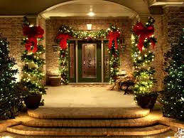 How to Choose Outdoor Animated Christmas Decorations : Comely Image Of Christmas  Front Porch Decoration Using
