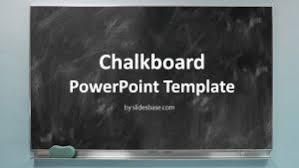 Chalkboard Powerpoint Background Global Line Powerpoint Template Slidesbase