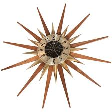 starburst wall clock by welby division elgin national watch company