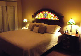 Stained Glass Headboard - after glass installation