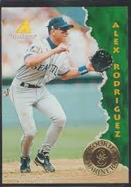 1995 studio gold alex rodriguez rookie psa 10. Amazon Com 1995 Pinnacle Alex Rodriguez Mariners Rookie Baseball Card 132 Collectibles Fine Art