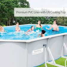 rectangle above ground swimming pool. Bestway Hydrium™ - Rectangle 6.1m X 3.6m Above Ground Pool With Filter Kit Swimming