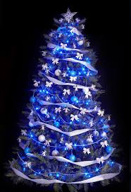 34 Blue Christmas Tree Decorations Ideas