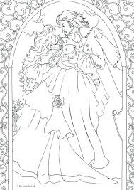 Fallen Angel Coloring Pages Romantic Coloring Pages Vampire Romance