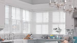 stylish white wood blinds