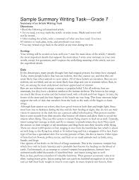 sample summary writing task grade summary of an article