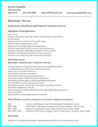 Resume For Server Gorgeous Resume Objective Server R Quickplumberus