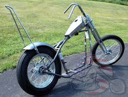 groovy chopper narrow springer paughco rigid frame sportster