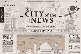 Old Fashioned Newspaper Article Template Design Of Old Vintage Newspaper Template Showing Articles By