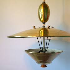 Pull Down Ceiling Light Ufo Pendant Lighting Vintage Atomic Flying Saucer Pull Down