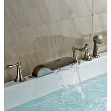 bathtub faucet and shower head. brushed nickel roman tub faucet mixer tap with hand held shower head bathtub and