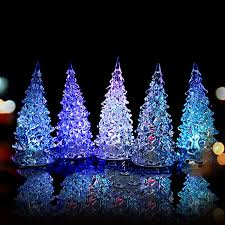hk stock new year mini crystal color changing led tree decoration night light