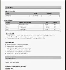 Simple Resume Format Download In Ms Word Pdf