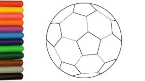 Small Picture Soccer Ball Coloring Pages Learn Colours Colournig with Colored