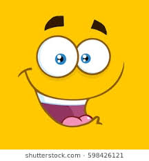 happy cartoon square emoticons with smiling expression vector ilration with yellow background