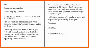 Official Resignation Letter Template
